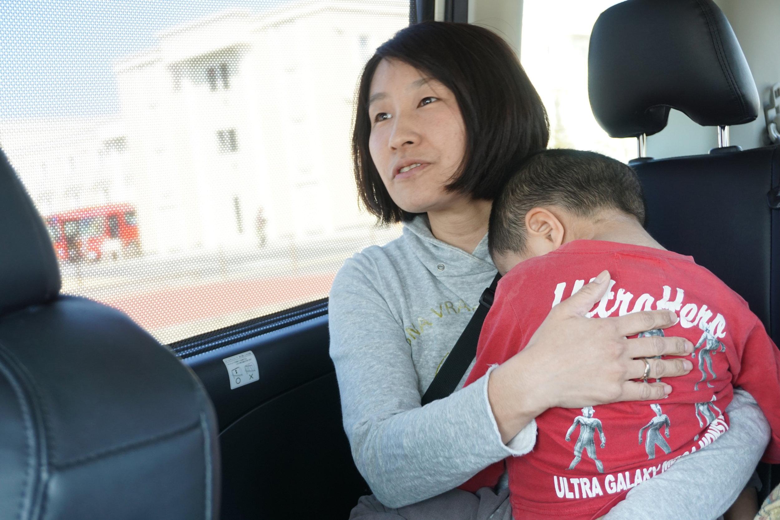 奥さんも成田空港までなら大きなミニバンでも運転できるという