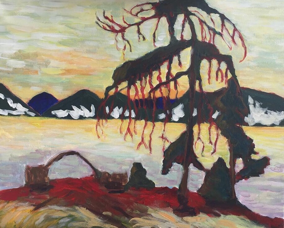 The Jack Pine  by Tom Thomson  Tom Thomson, Canadian painter, naturalist,painted mostly from his canoe, drowned mysteriously on Canoe Lake, Ontario, 1917.