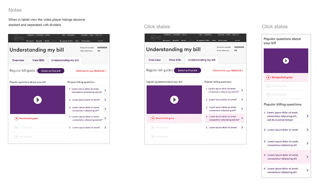 Responsive stacking and hover styles