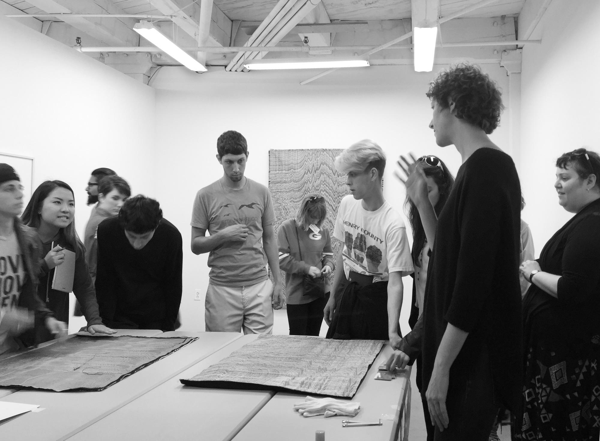 Visiting school in the studio (Brooklyn, NY)  Interim Semester Seminar  w/Prof. Shindelman University of Georgia, School of Art, 2016