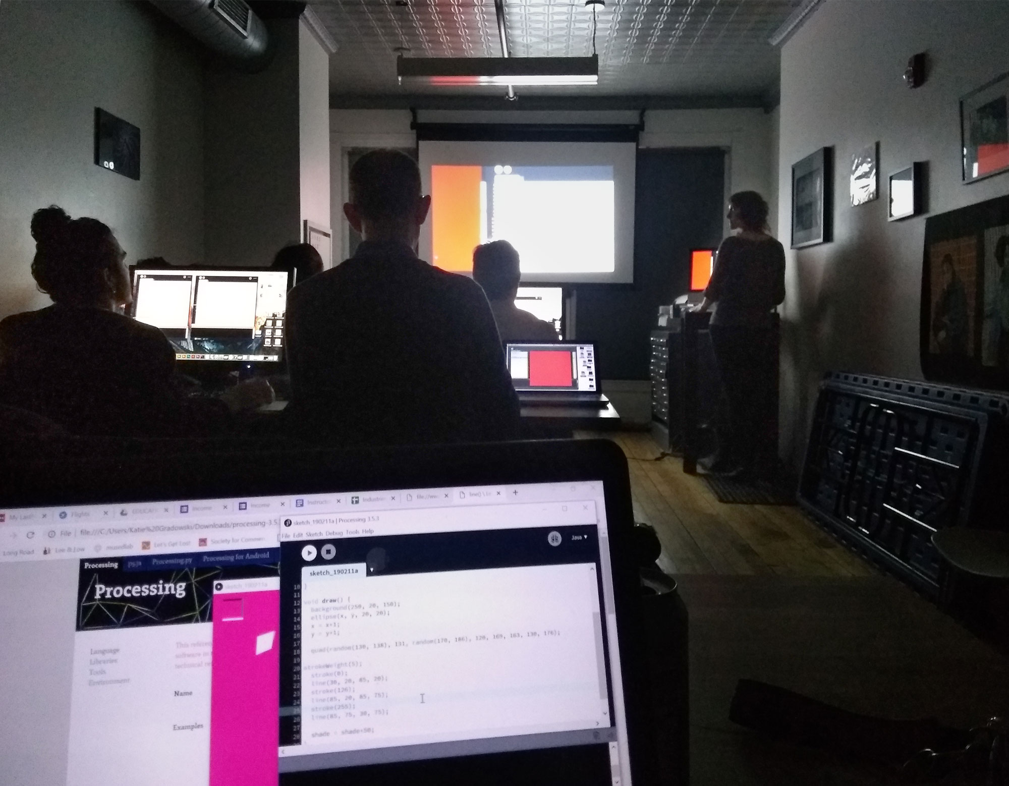 Creative Coding with Processing Workshop at AS220 — Laura Splan
