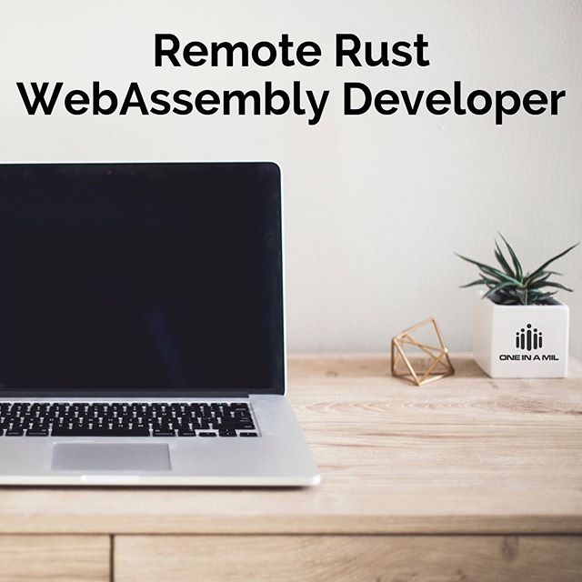 We have an amazing remote opportunity! Our client, out of California, is looking for Rust / WebAssembly Developers to join their already stellar team from anywhere in the world! Check it out and apply today! Link in bio.