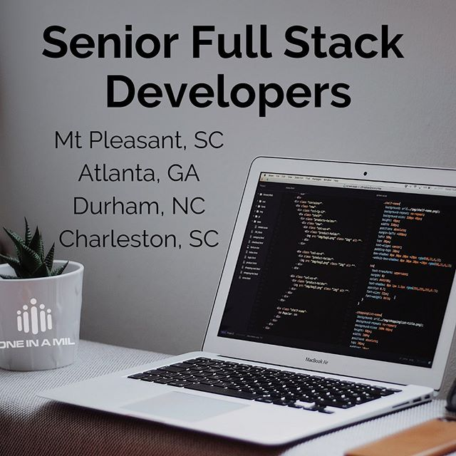 We have multiple Senior Full Stack Developer positions open right now! See them all & apply on our careers page 👉 oneinamil.com/careers