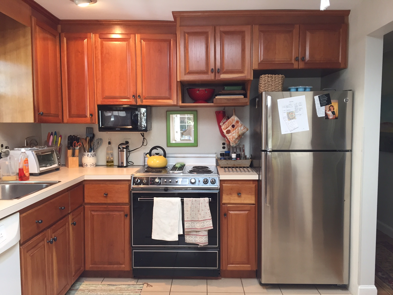The layout of the kitchen was choppy with little work space and no cooking flow at all....