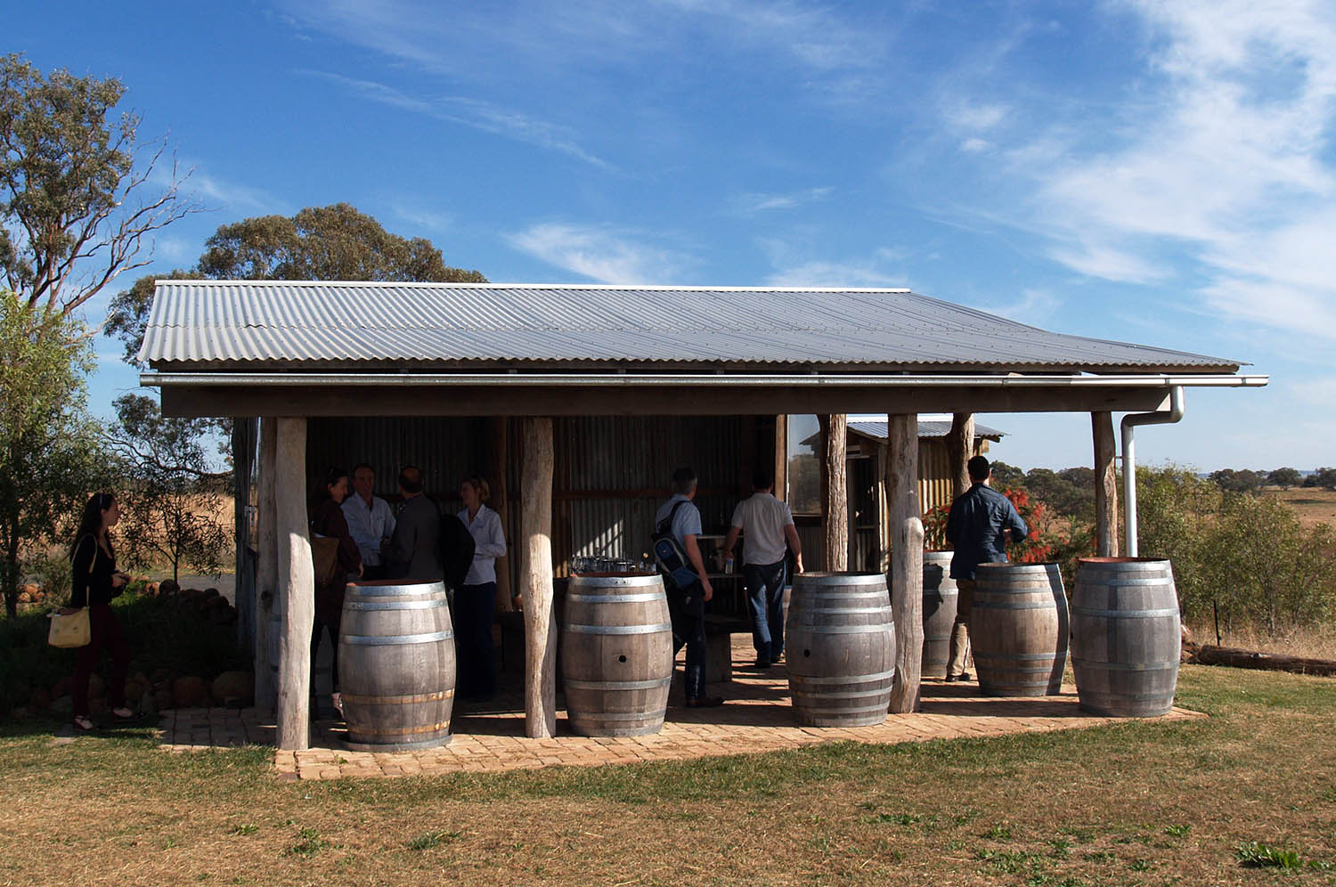 A 'tasting shed' in wine country. Orange, New South Wales.