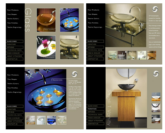 Vitraform Glass Sink Website