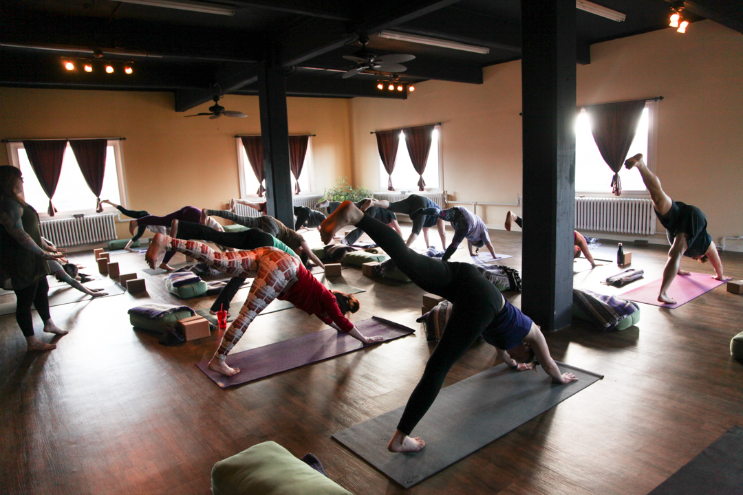 Open Vinyasa Flow - Vinyasa Flow is a style of hatha yoga that links the movement of the body with the rhythm of the breath. Classes are built by