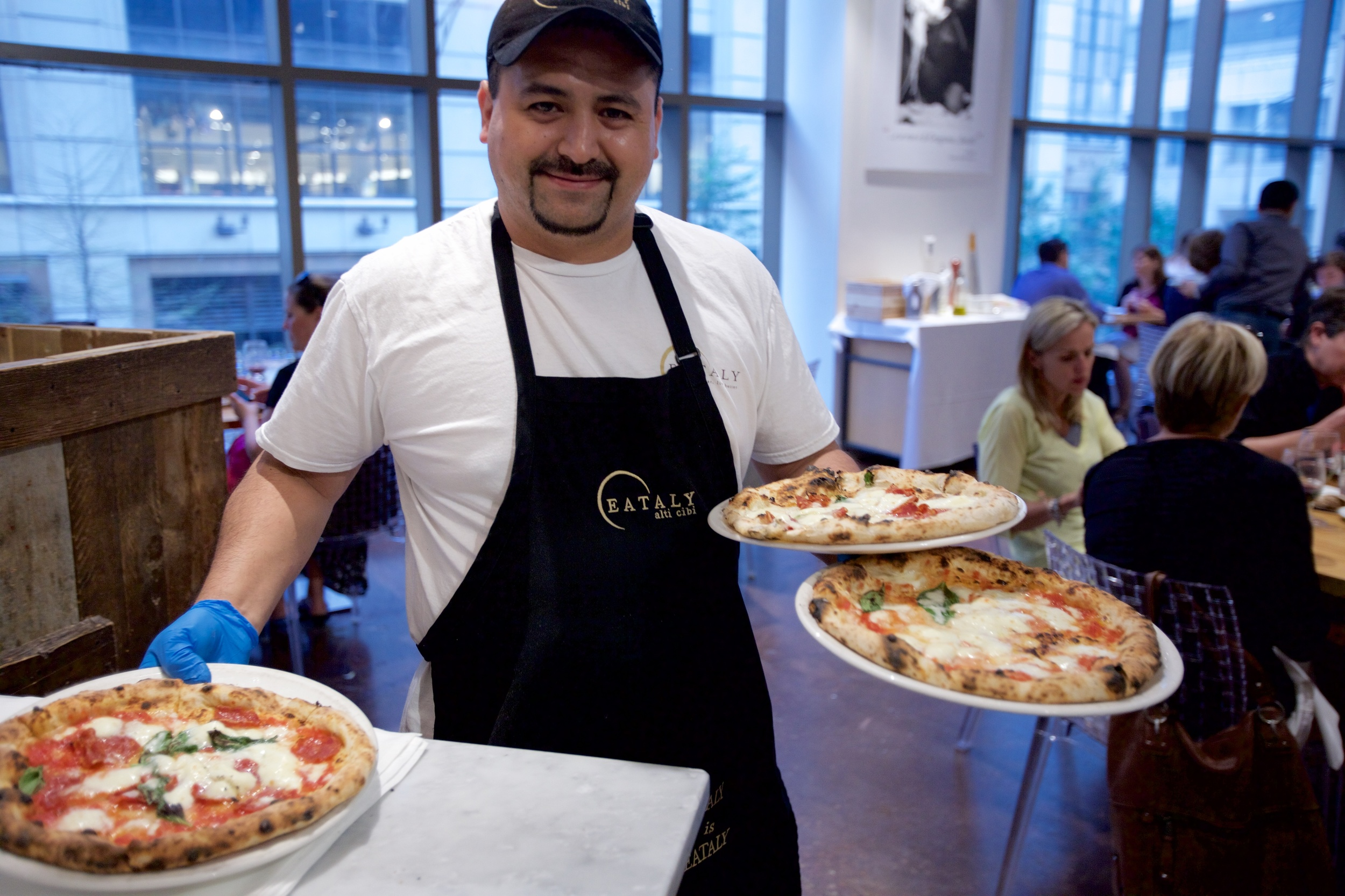 Pizza server at eataly