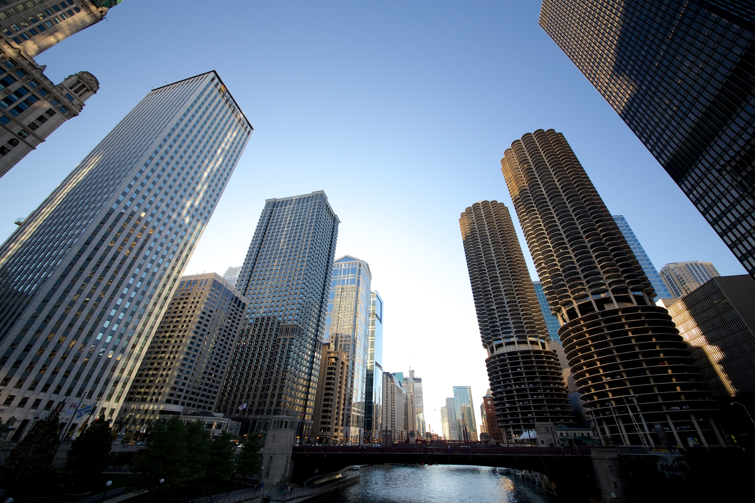 Chicago River - Marina City on the right