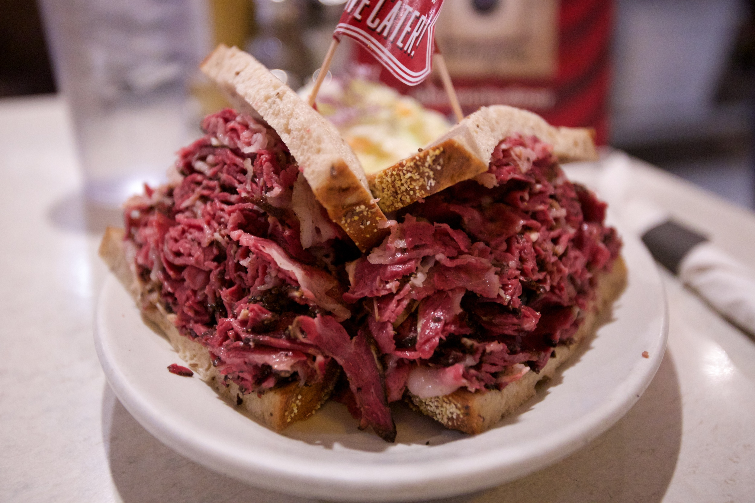 Pastrami sandwich at eleven city diner