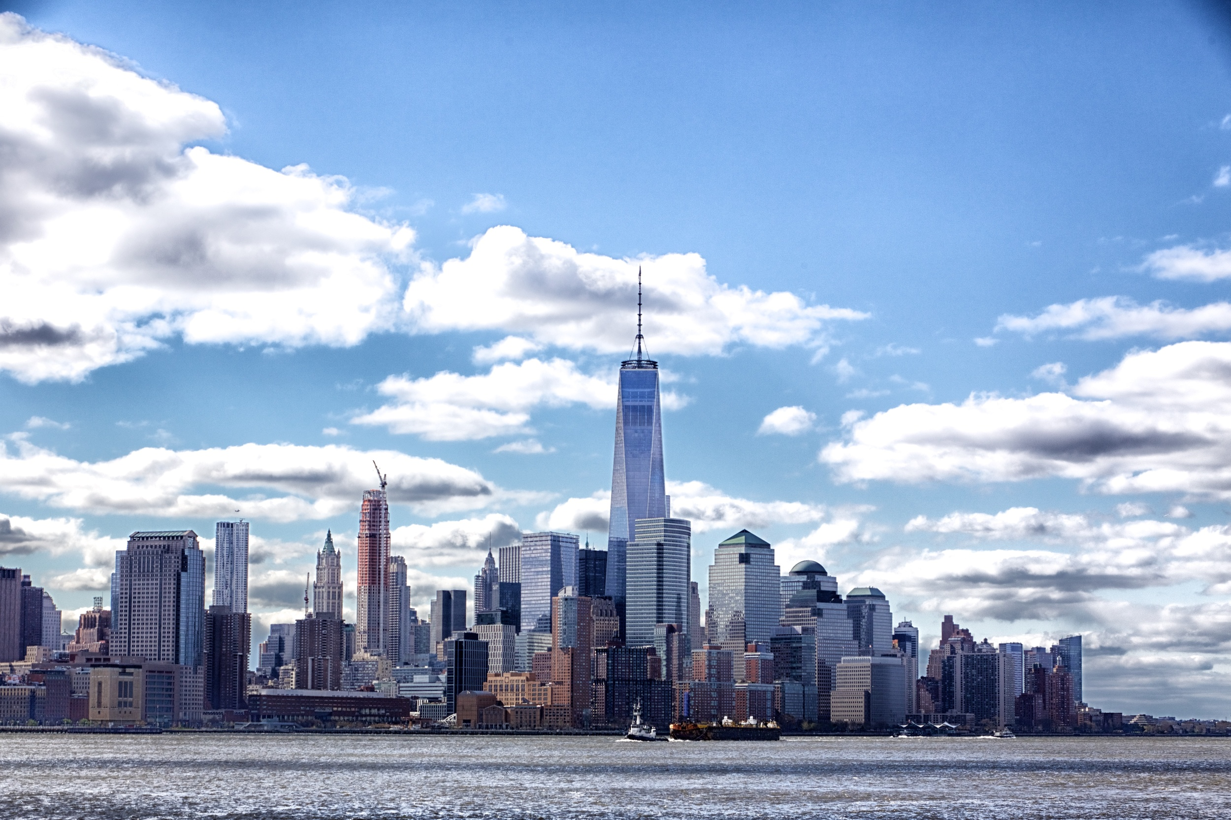 Lower Manhattan Skyline featuring One World Trade Center -