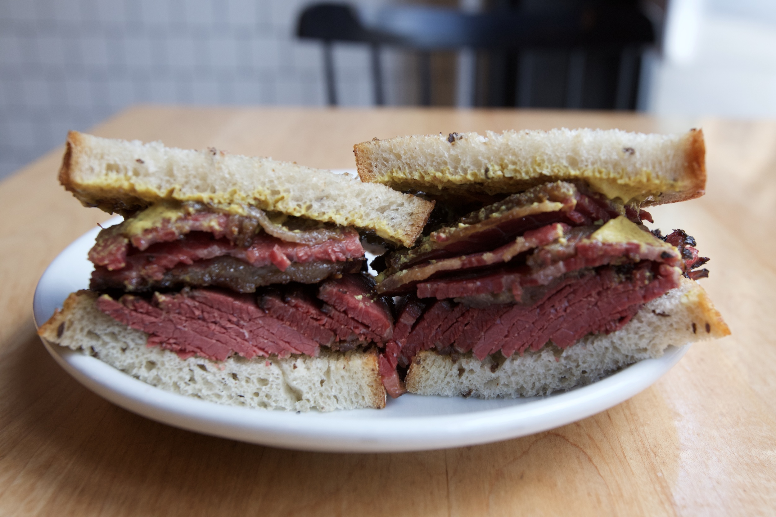 "MONTREAL STYLE ""SMOKED MEAT"" ON RYE"