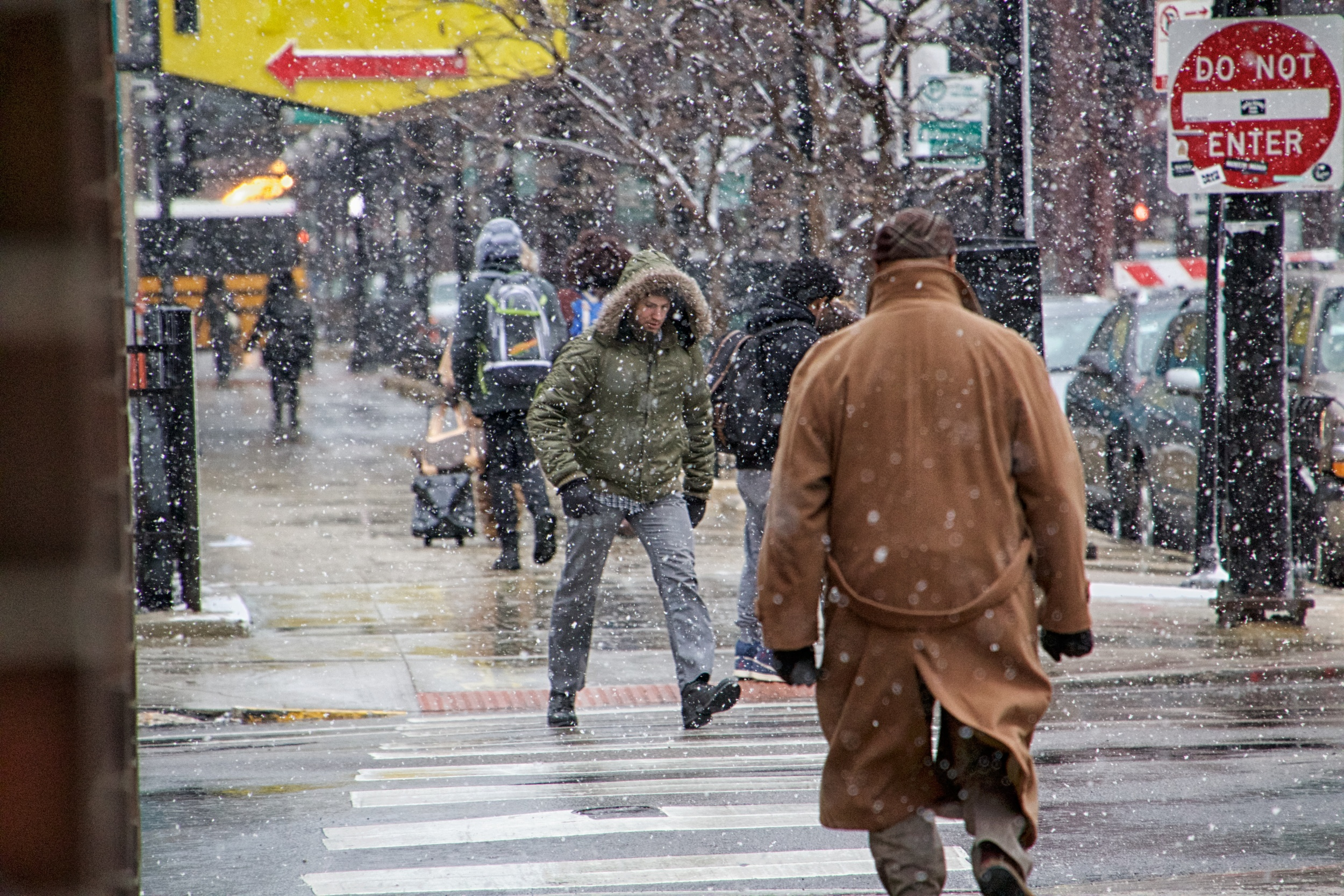 Pedestrians on Wabash Avenue