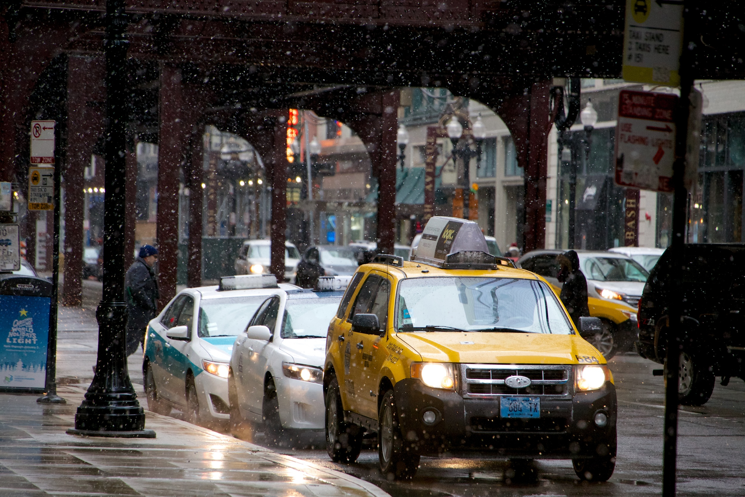 A Taxi Will Get You out of The Snow.
