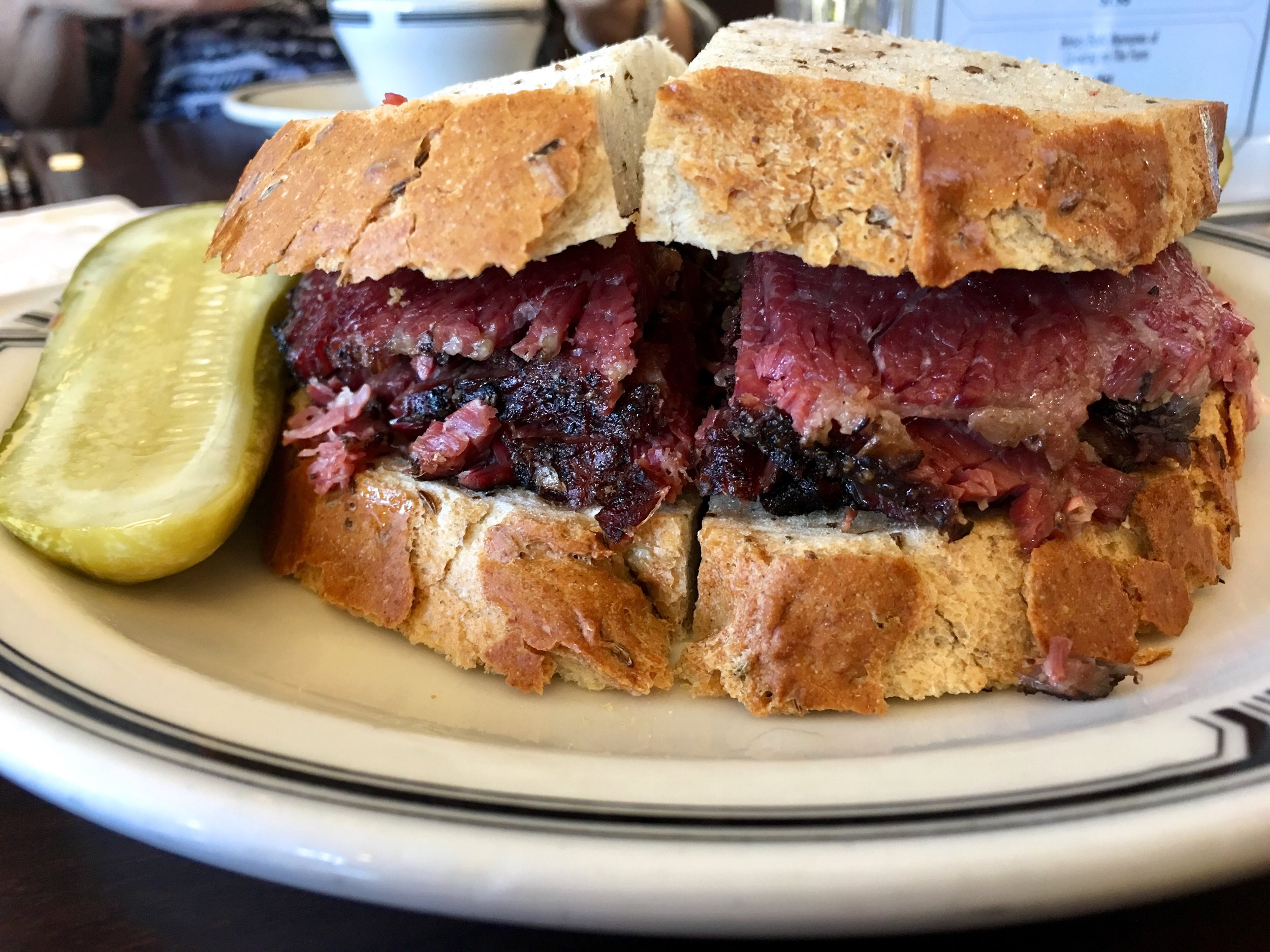 Pastrami on rye at langer's Deli