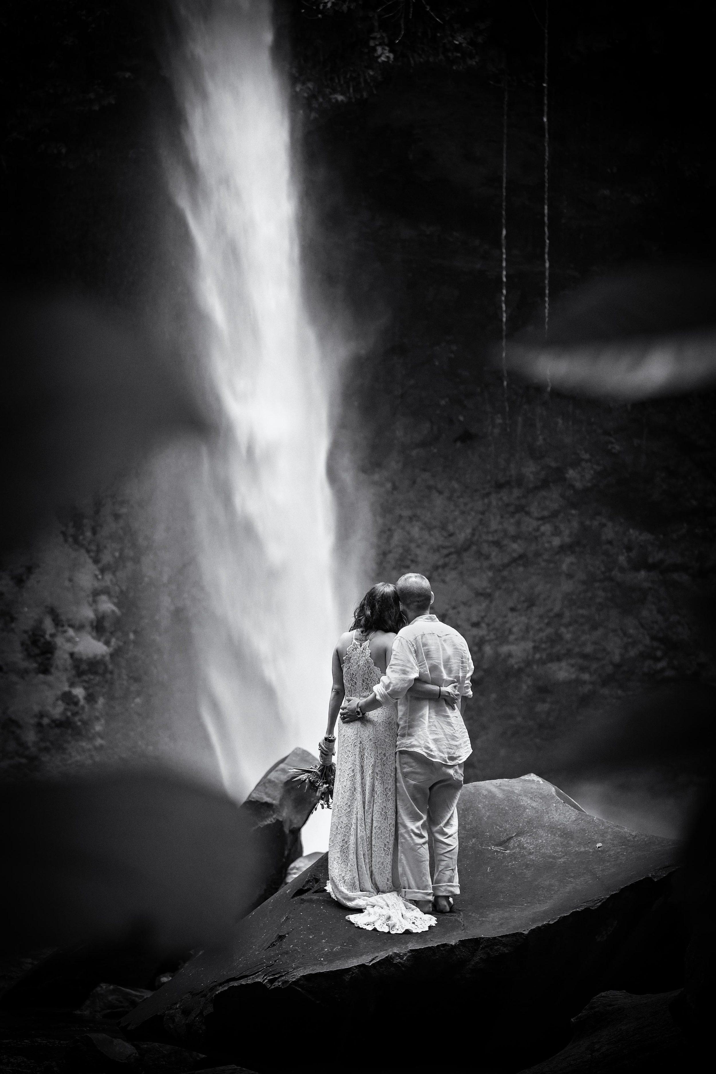 Elopement at La Fortuna Waterfall