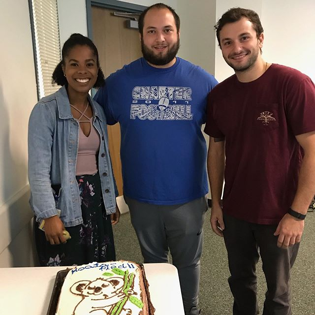 They're koala-fied! N'Dea, Andrew, and Mike passed their qualifying exams and are ready for year 2!