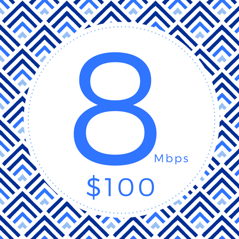 Provides the speed needed to keep you going, so you don't have to.    •  Multiple Users  •  Online Gaming  •  Stream HD Video  •  Up to 8Mbps↓ 1.5Mbps↑  •  Unlimited Data