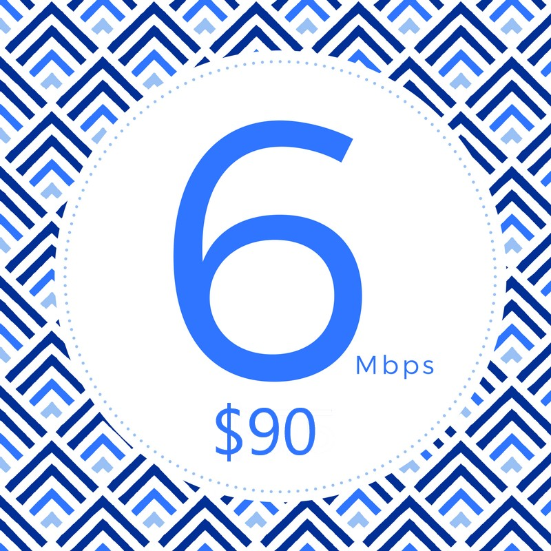 Great for avid gamers!It's simply more speed for your growing needs.     • Stream HD Video   • Surf the Web and more   • Up to 6Mbps ↓ 1.5Mbps↑  • Unlimited Data  • T.E.C. Plan
