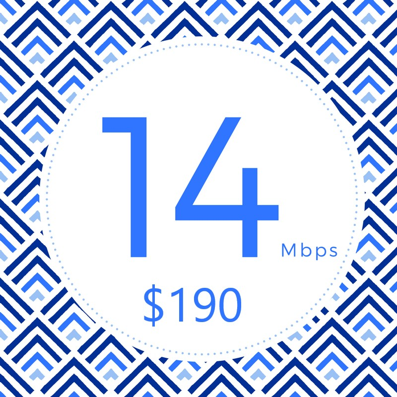 Staying connected is important, this plan gives you just that and more with a peace of mind.  • Multiple Devices for Multiple Users  • Online Gaming  • Stream 4K/UHD Video  • Up to 14Mbps↓ 2Mbps↑  • Unlimited Data  • T.E.C. Plan