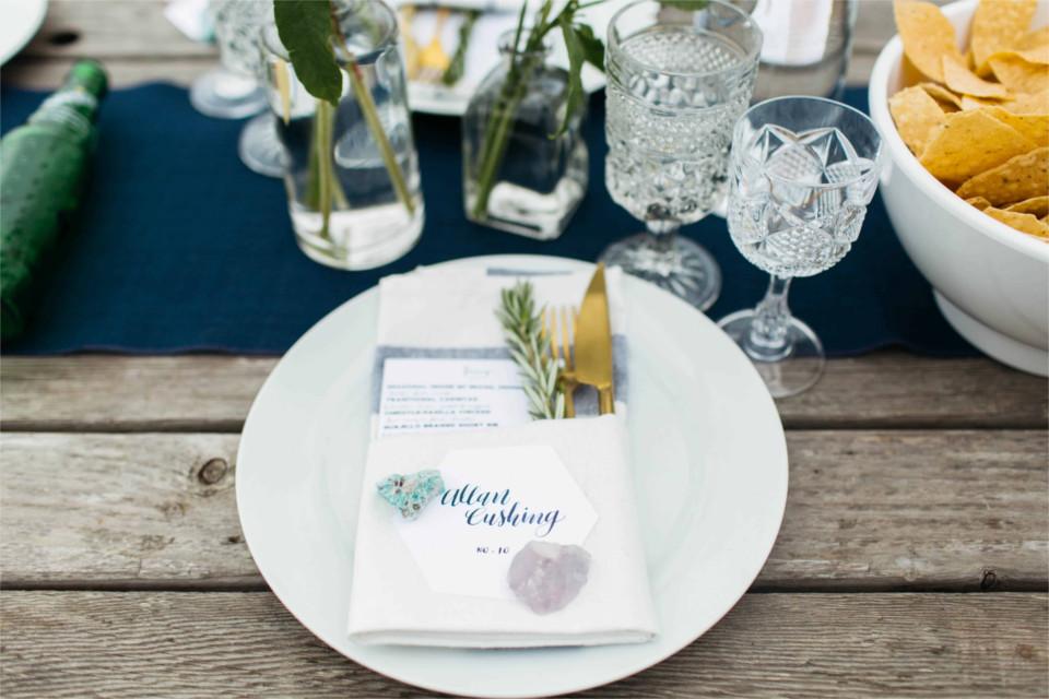 Rustic-Beach-Wedding-Hexagon-Place-Card-Gold-Crystal.jpg