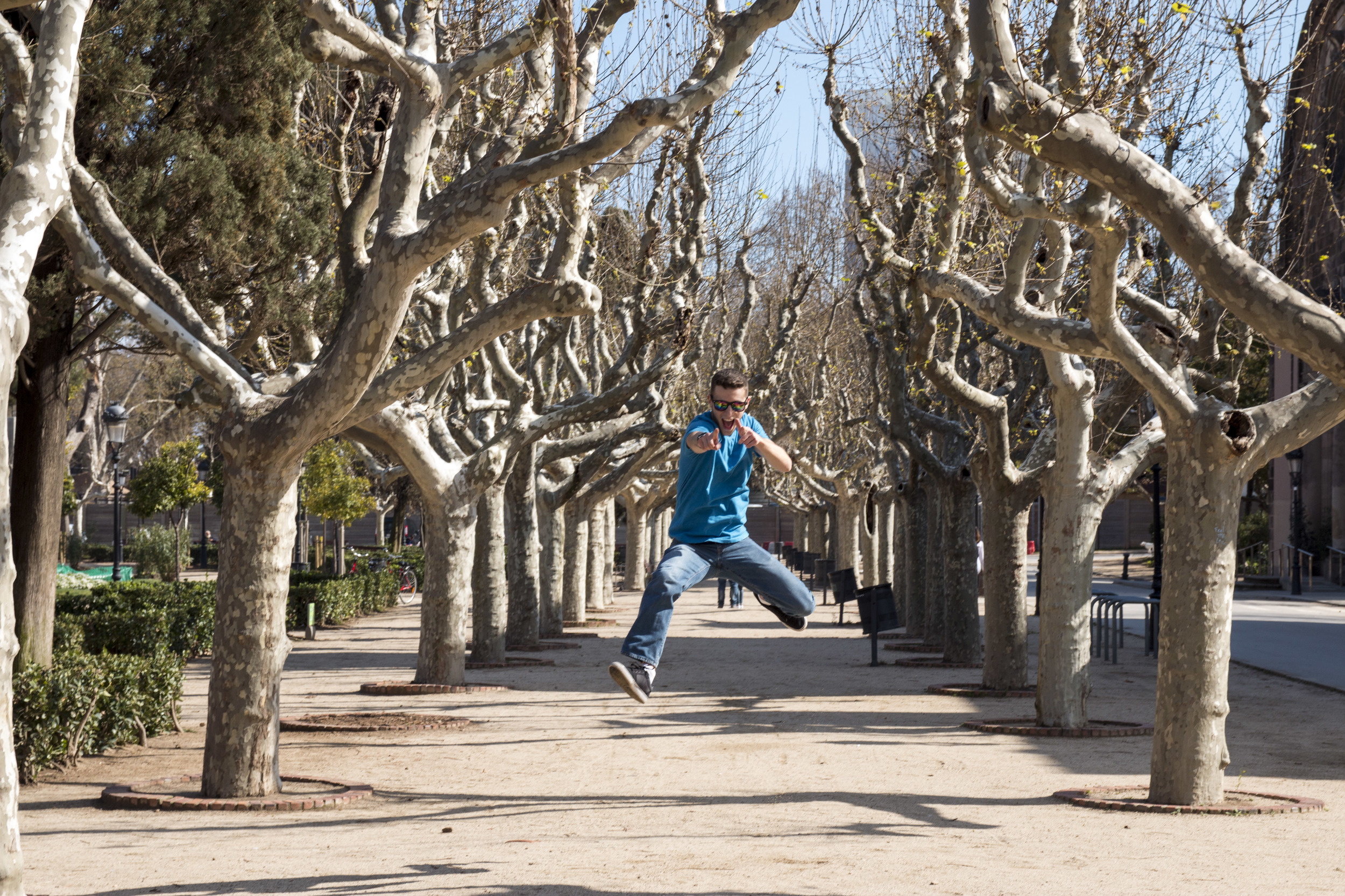 Parc de la Ciutadella was probably one of the most beautiful parks I've ever walked around. Check out these trees! Oh, and me jumping.