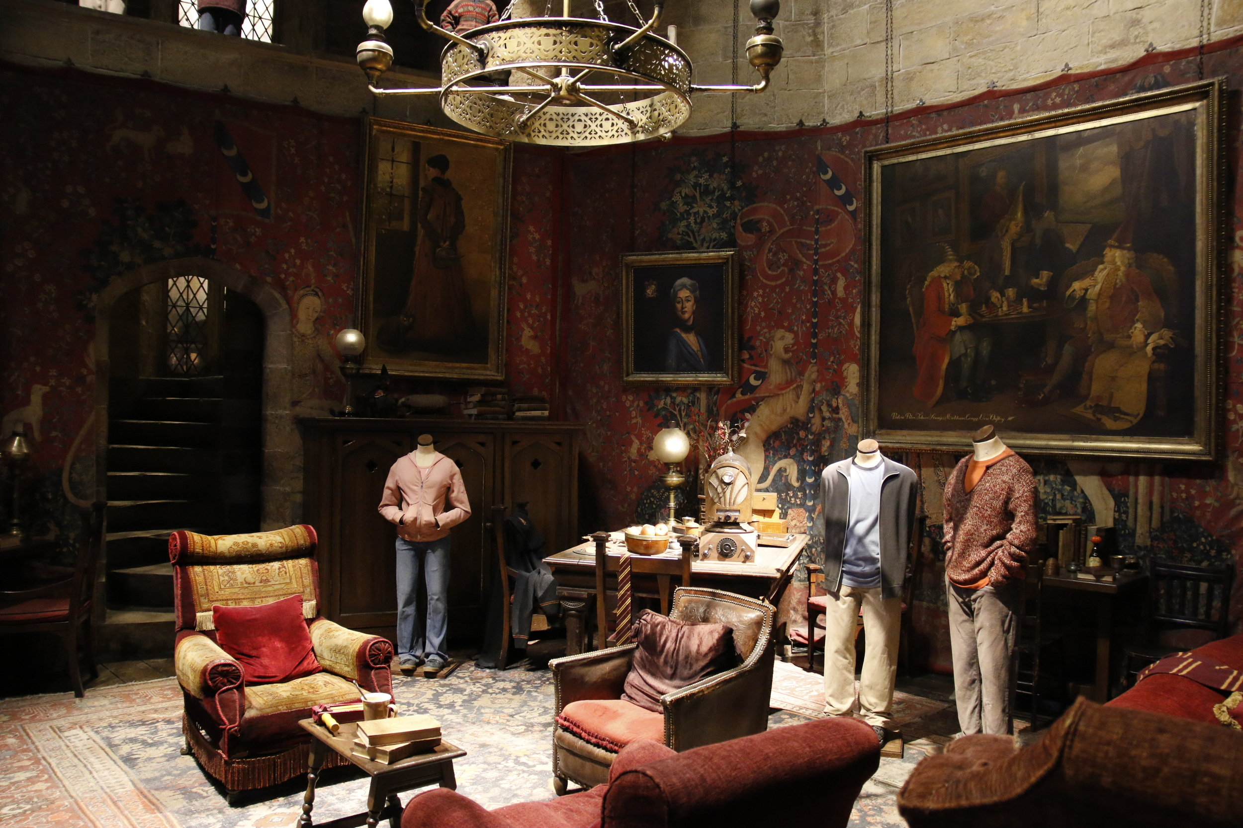 The living room in Hogwarts
