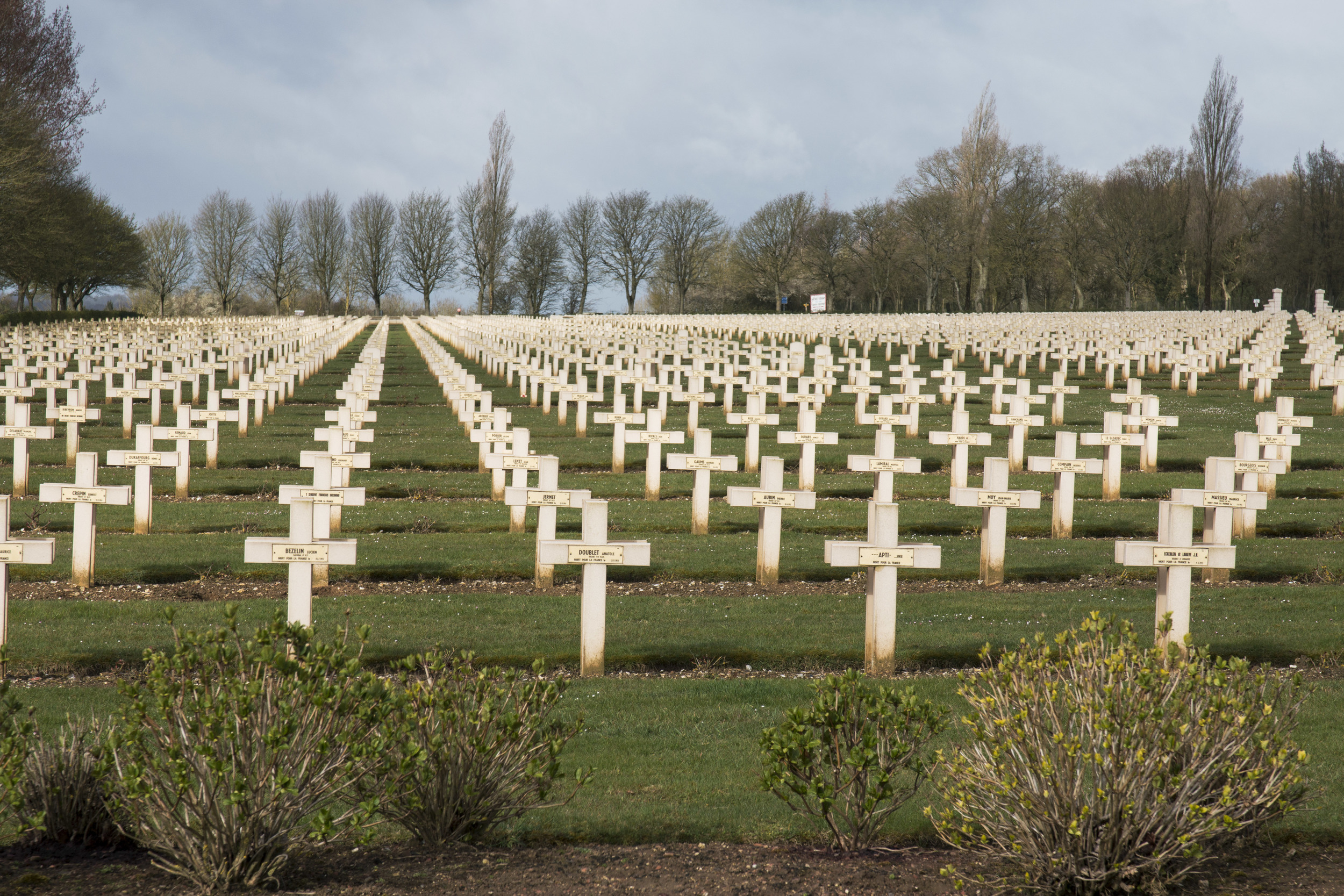 French national war cemetery at Notre dame de Loretta