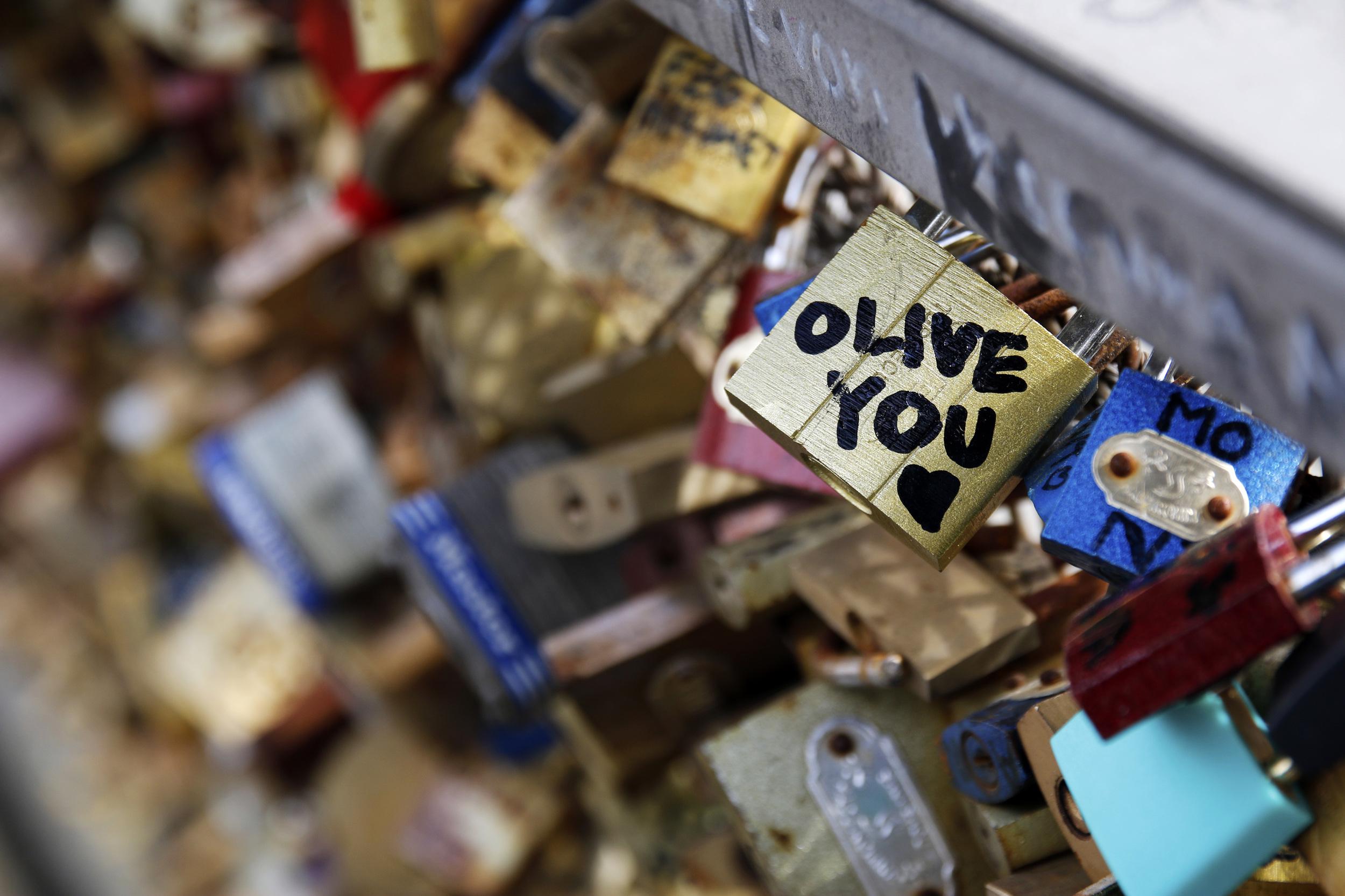 """Olive you"" -Love Lock Bridge"