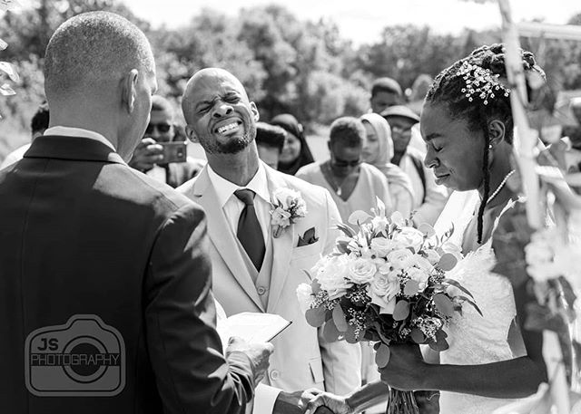 "This is Daniel and Athena moments before saying ""I do"" Their love for each other was evident to everyone who attended the ceremony. A love so strong that it overwhelmed them and brought them to tears. What a beautiful moment. #wedding #weddingphotography #bride #groom #weddingceremony"
