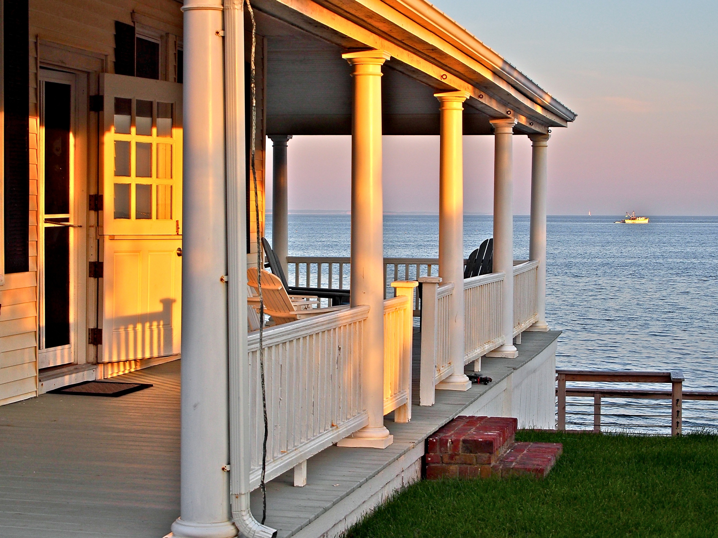 Porch at Sunset, East End