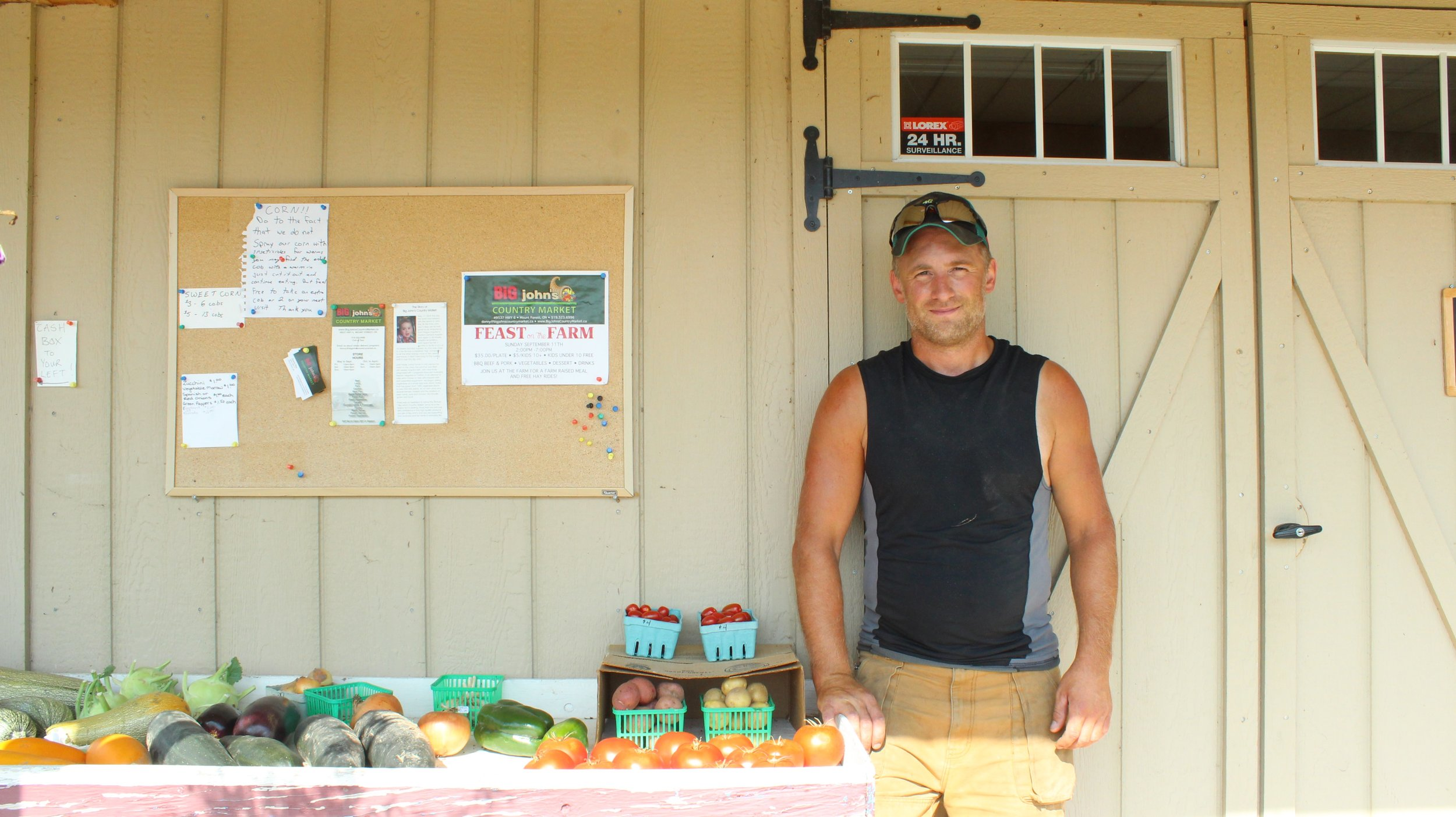 Donny, from  Big John's Country Market . Located in Mount Forest, Ontario, just 95km away from the Many Feathers Market where he sells his produce & quality cuts every Sunday!