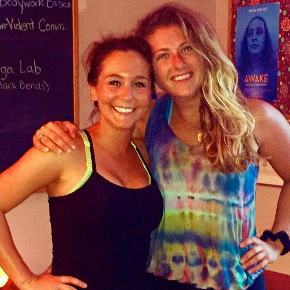 Me pictured with the super cute & awesome Jillian Deam... it was her first yoga class & I was psyched to be her teacher... If you are from Indy maybe you recognize her from  FOX 59 . :) Thanks for coming to class girl!
