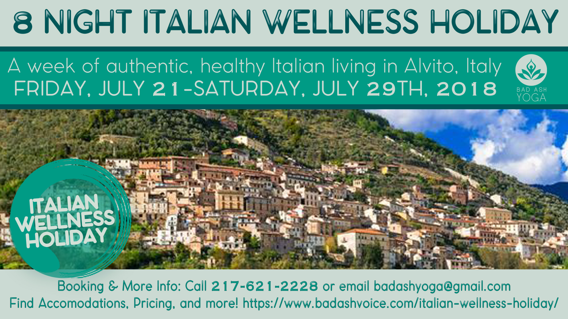 Italian Wellness Holiday Banner