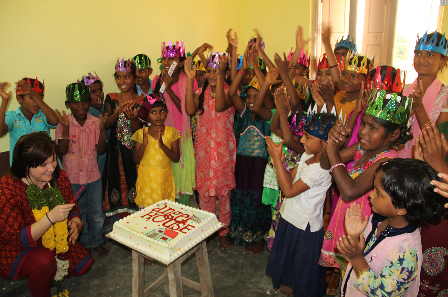 A joyous celebration in their new home!