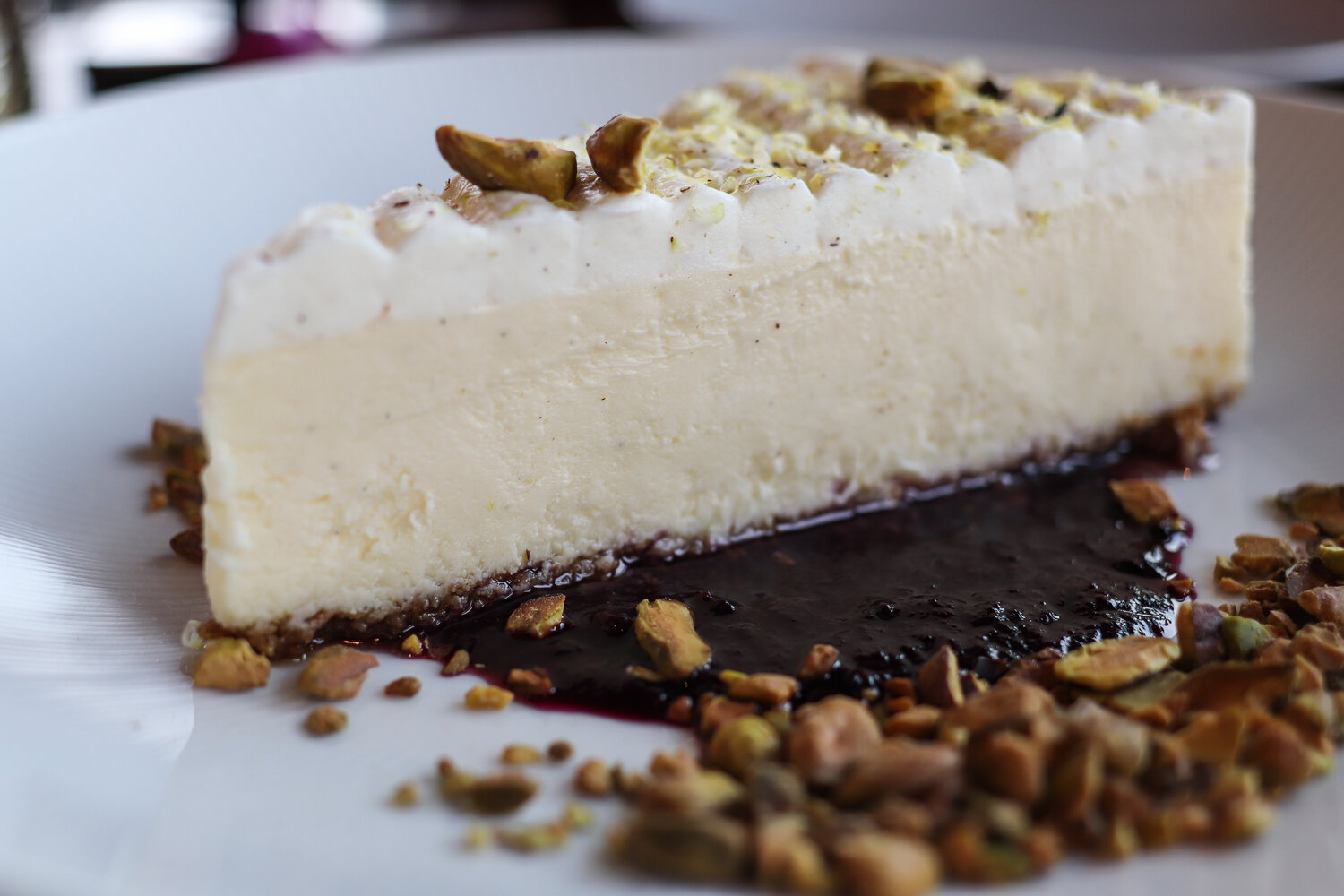 Pistachio cheesecake has been a big hit at the restaurant