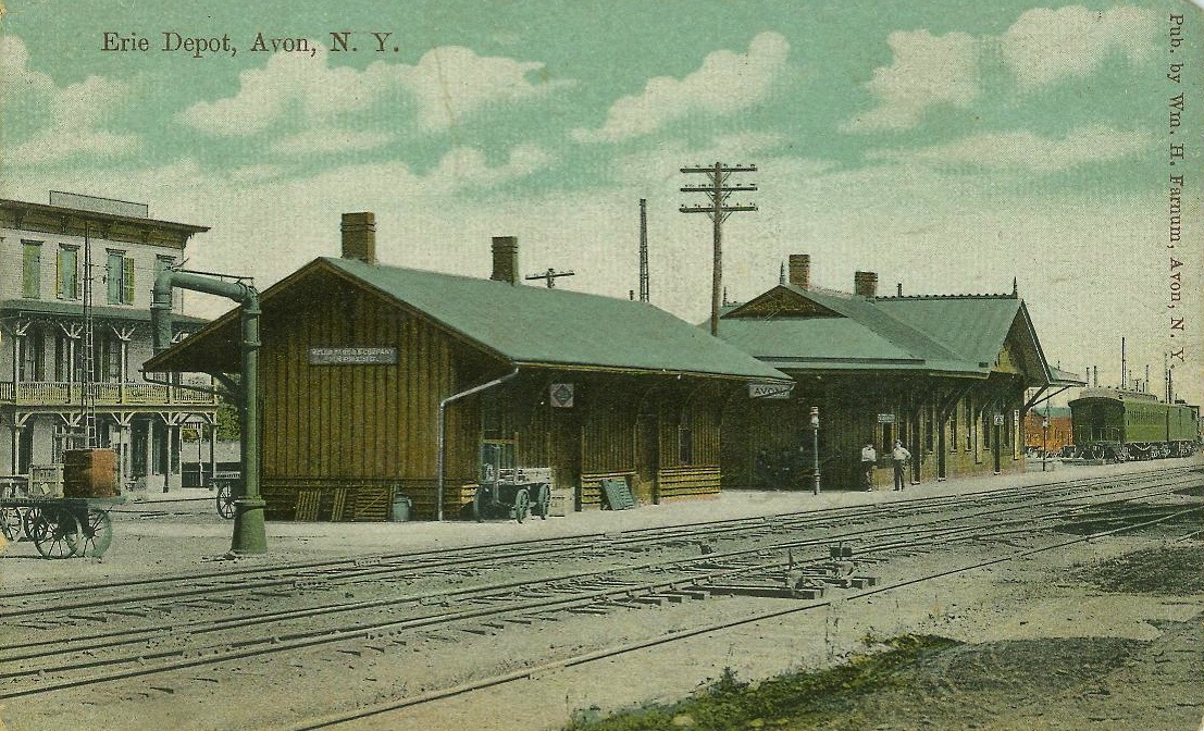 Erie Depot . Postcard. AP&HS collection.