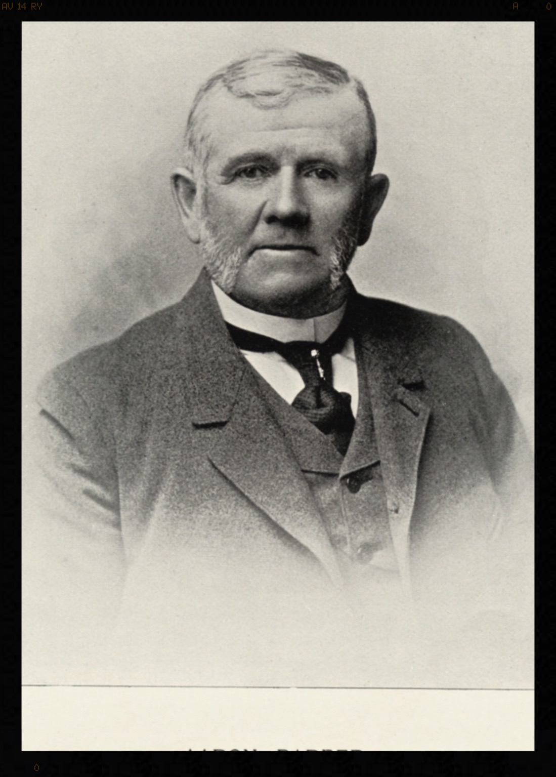 Aaron Barber III . Source:Mulligan Family private collection