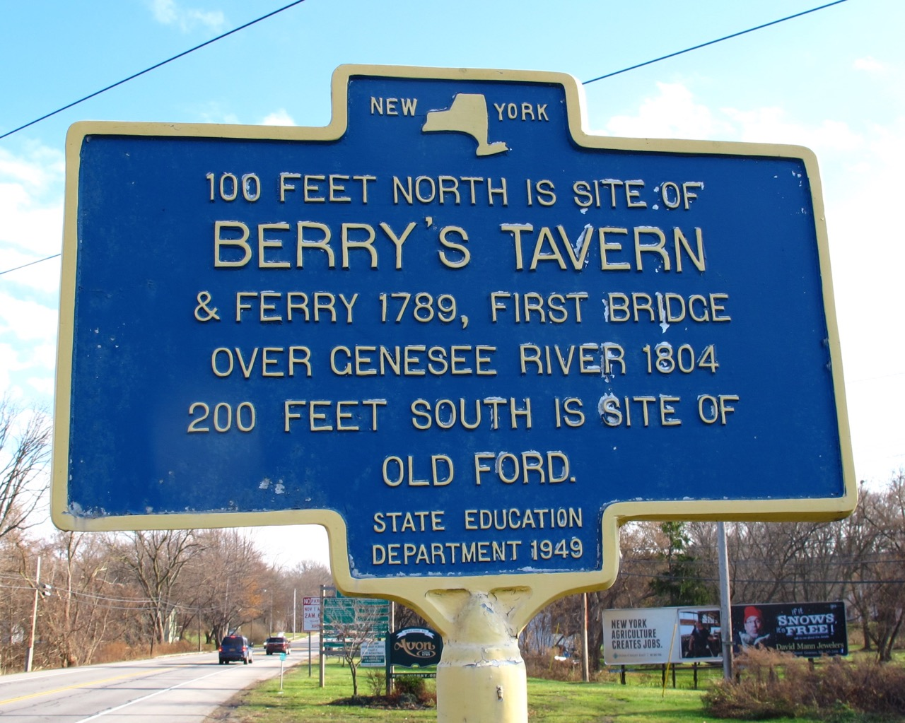 Historic Marker, at the Rts. 5 & 20 bridge over the Genesee River