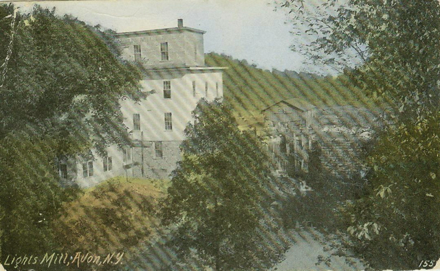 Light's Mill built in 1879,  postcard,  APHS collection