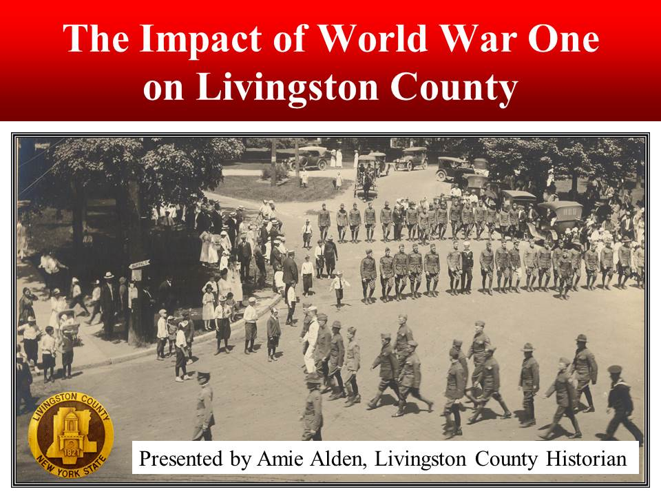 Avon Homecoming Parade, 1919 at the Village Circle Park in Avon.   Photo courtesy of the Livingston County Historian