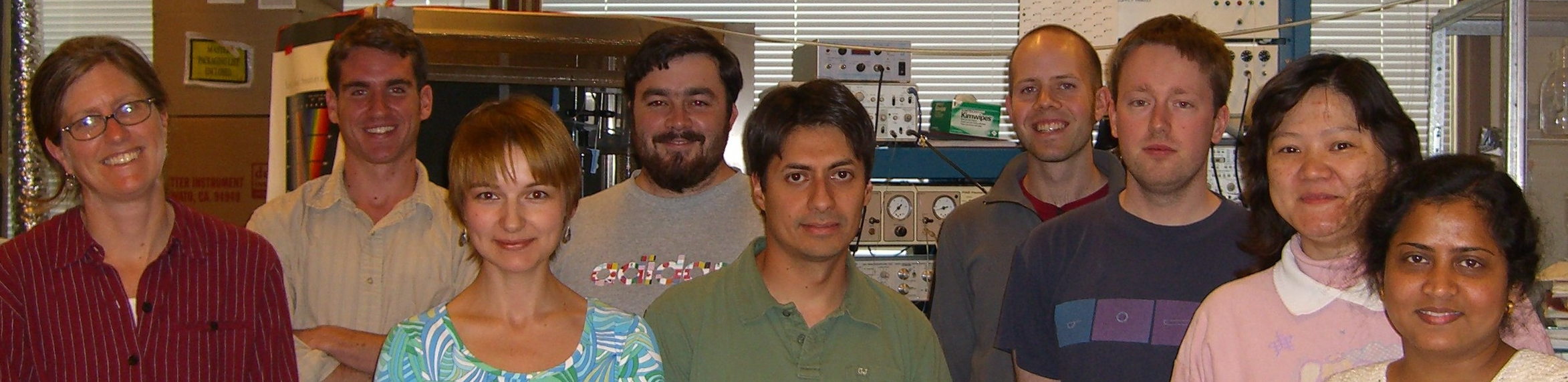 Feller lab UCSD - 2006 -- Marla, Kevin, Anastacia, Tim, Tony, Justin, Aaron, Chih-tien and Papiya Mahapatra