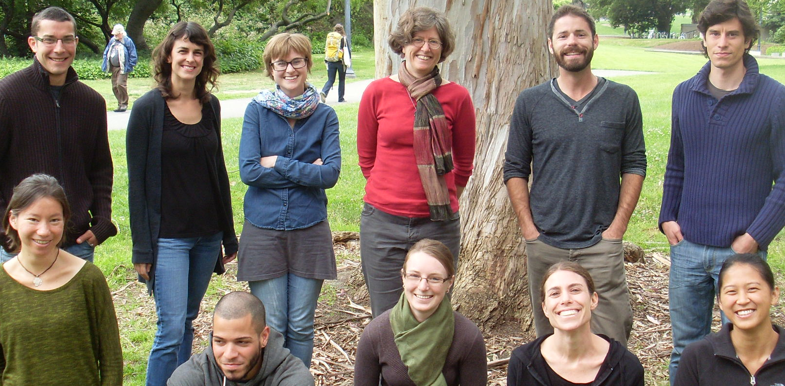 Feller lab - 2013 - Back; ryan, Georgeann, Anna, Marla, Aaron, Remi. Front: Alana, David, Lowry, Michal and Melissa