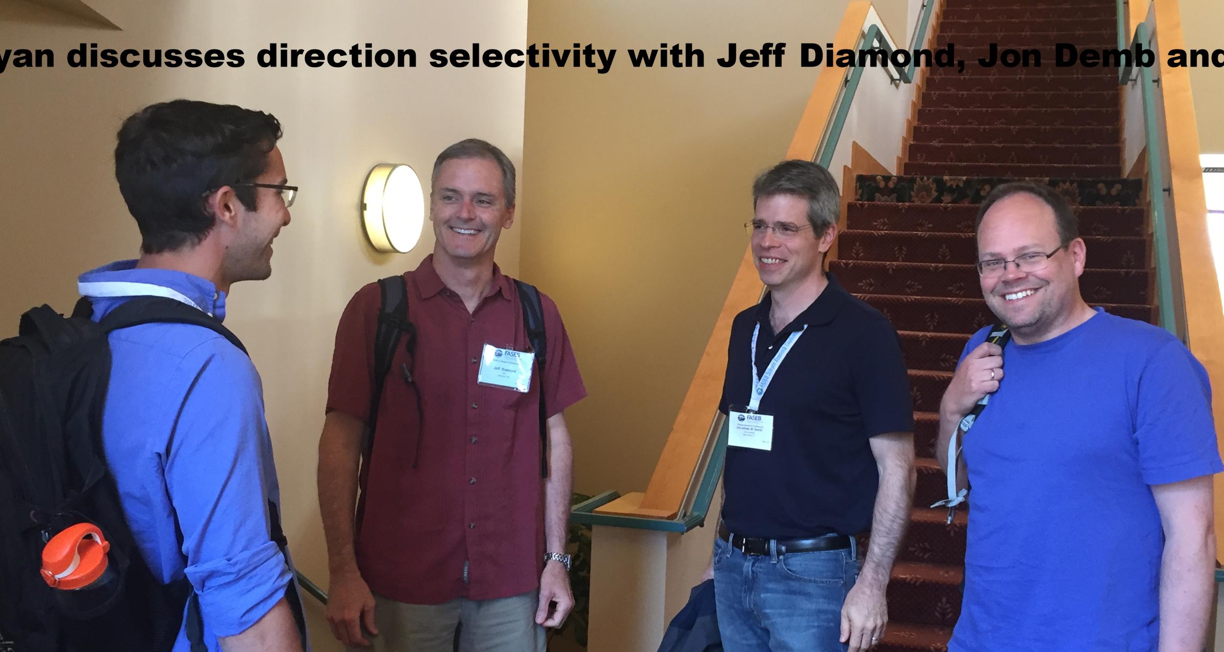 Ryan with Jeff Diamond, Jon Demb and Thomas Euler