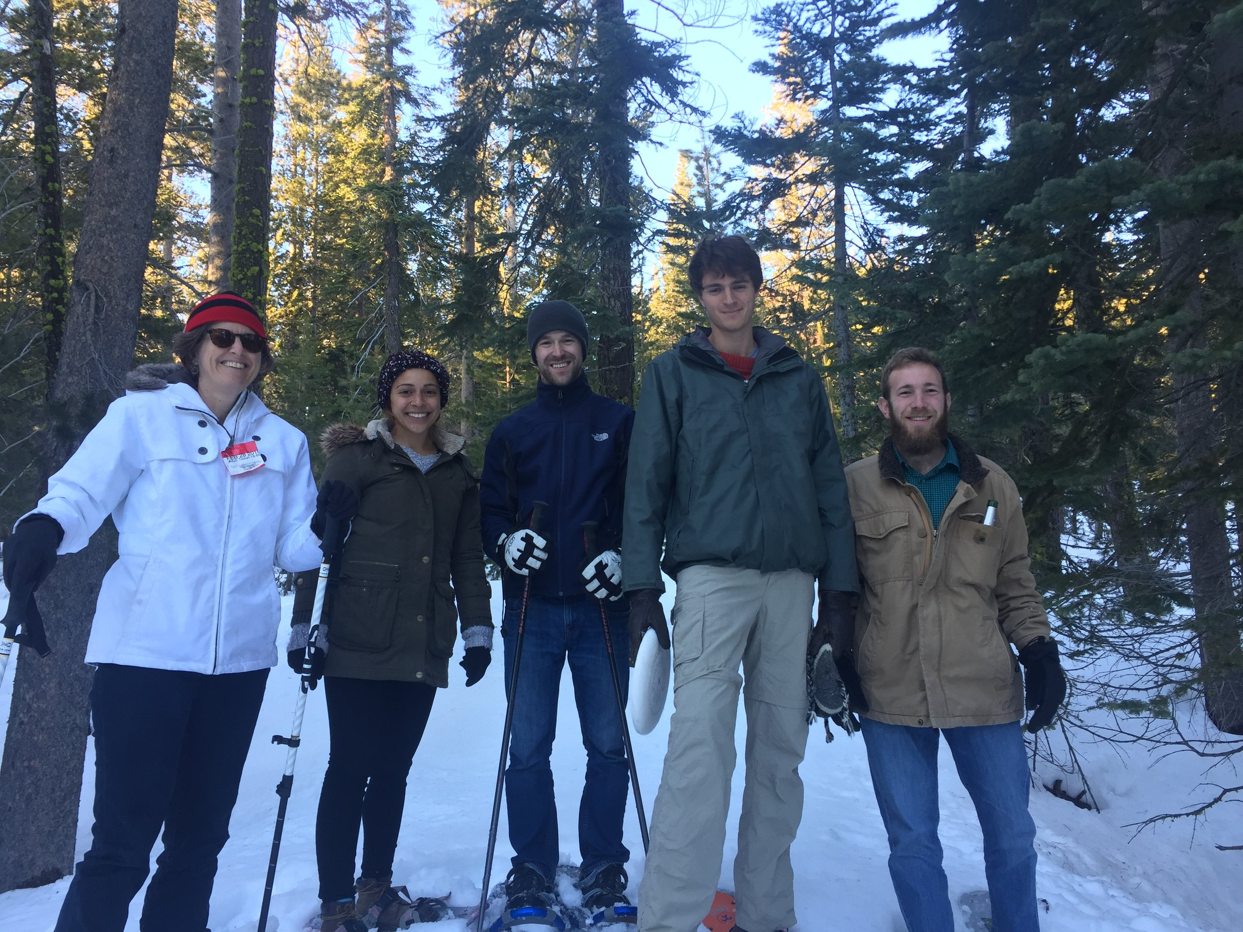 Snow-shoeing with Marla, Malak, Alex, Franklin and Bill