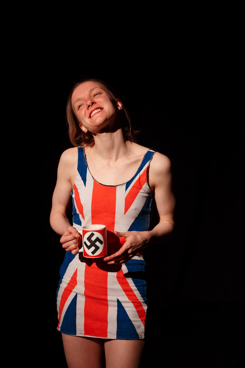 FLAG     A solo performance exploring uncomfortable contradictions in British identity.    Performed at The Rich Mix, London 2016 and Camden People's Theatre 2017. Commissioned by Radical Ideas Rich Mix.