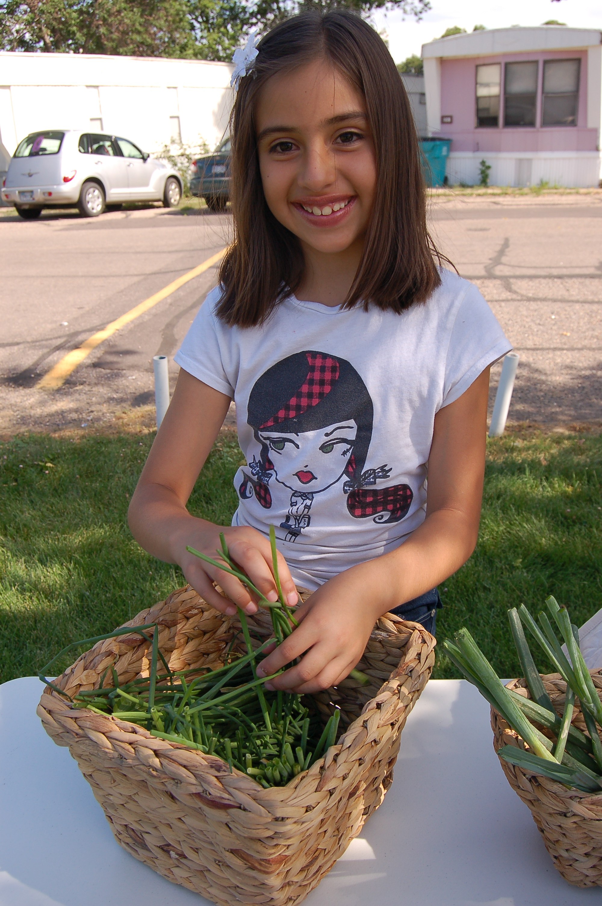 Each week, our youth give away local produce to families living in food deserts. Many of the kids are from the neighborhood, so it's a chance for them to reach out to their neighbors and families and show off their hard work.