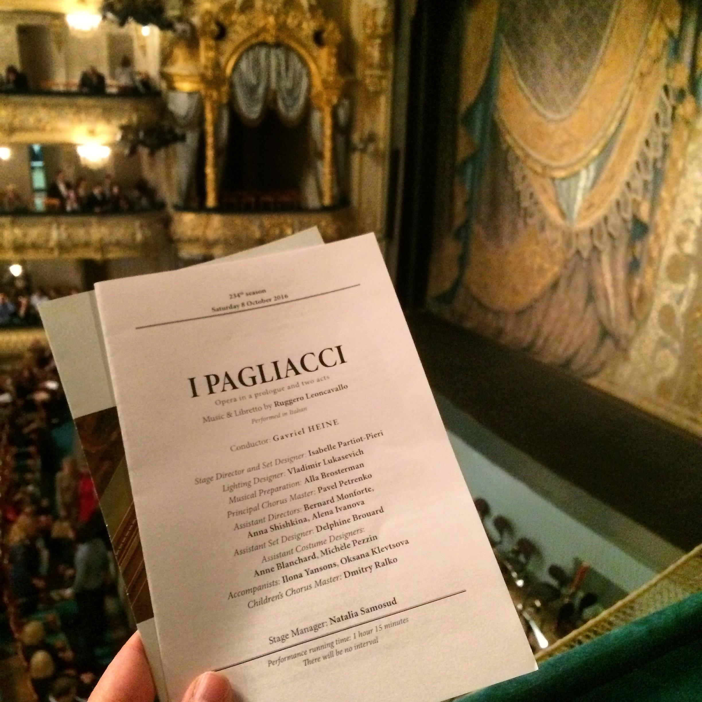 Mariinski theatre I Pagliacci