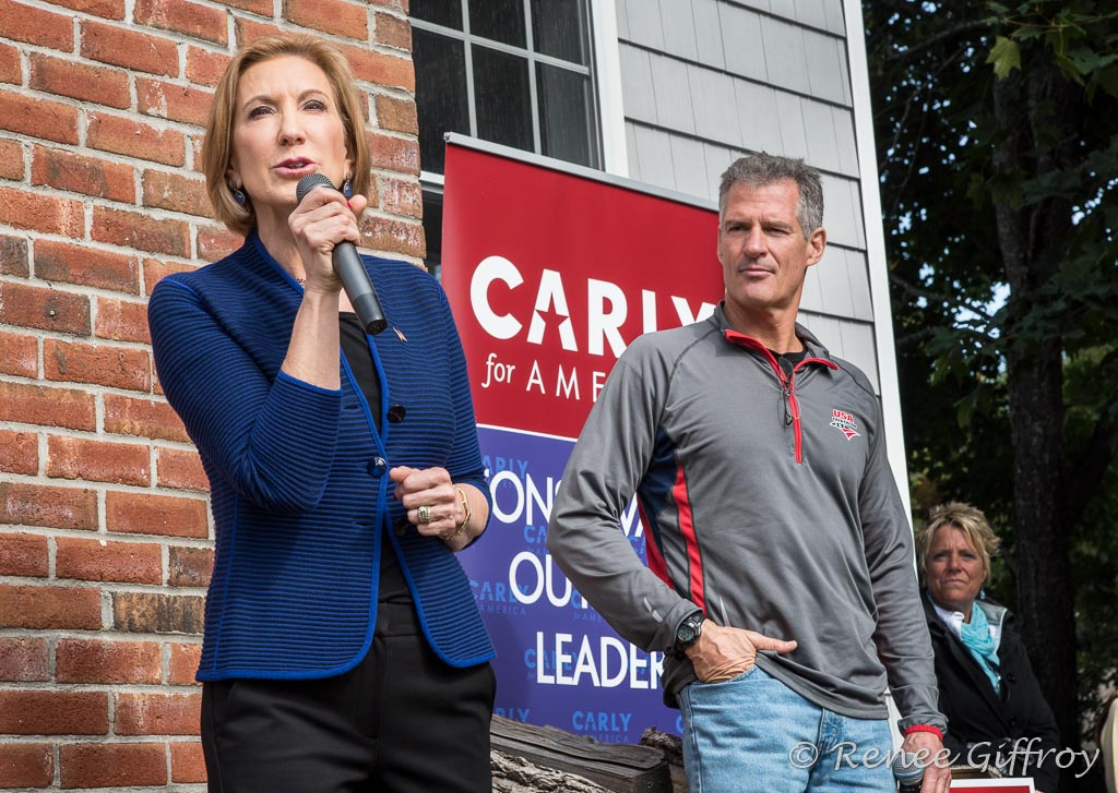 Carly Fiorina with former MA Senator Scott Brown, in Rye, NH
