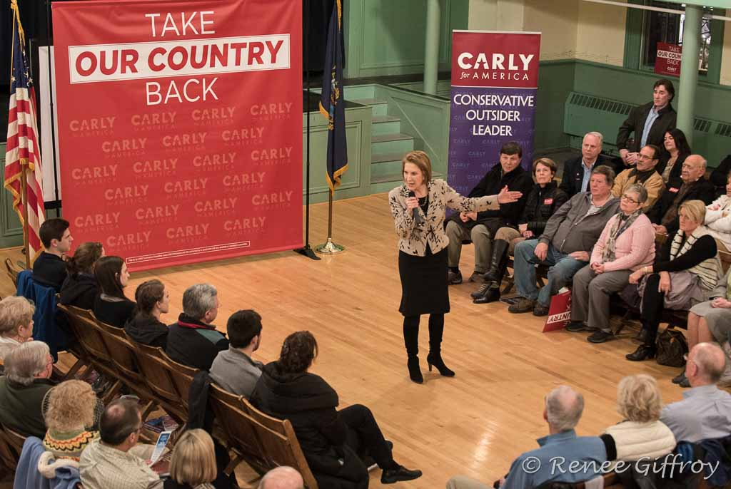 Carly Fiorina in Exeter, NH